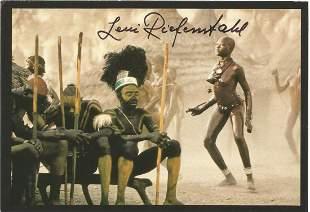 Leni Riefenstahl signed 6x4 vintage Africa colour