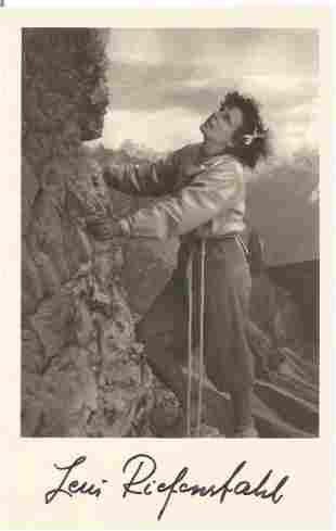 Leni Riefenstahl signed 6x4 vintage black and white