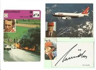 Niki Lauda signature piece includes signed album page