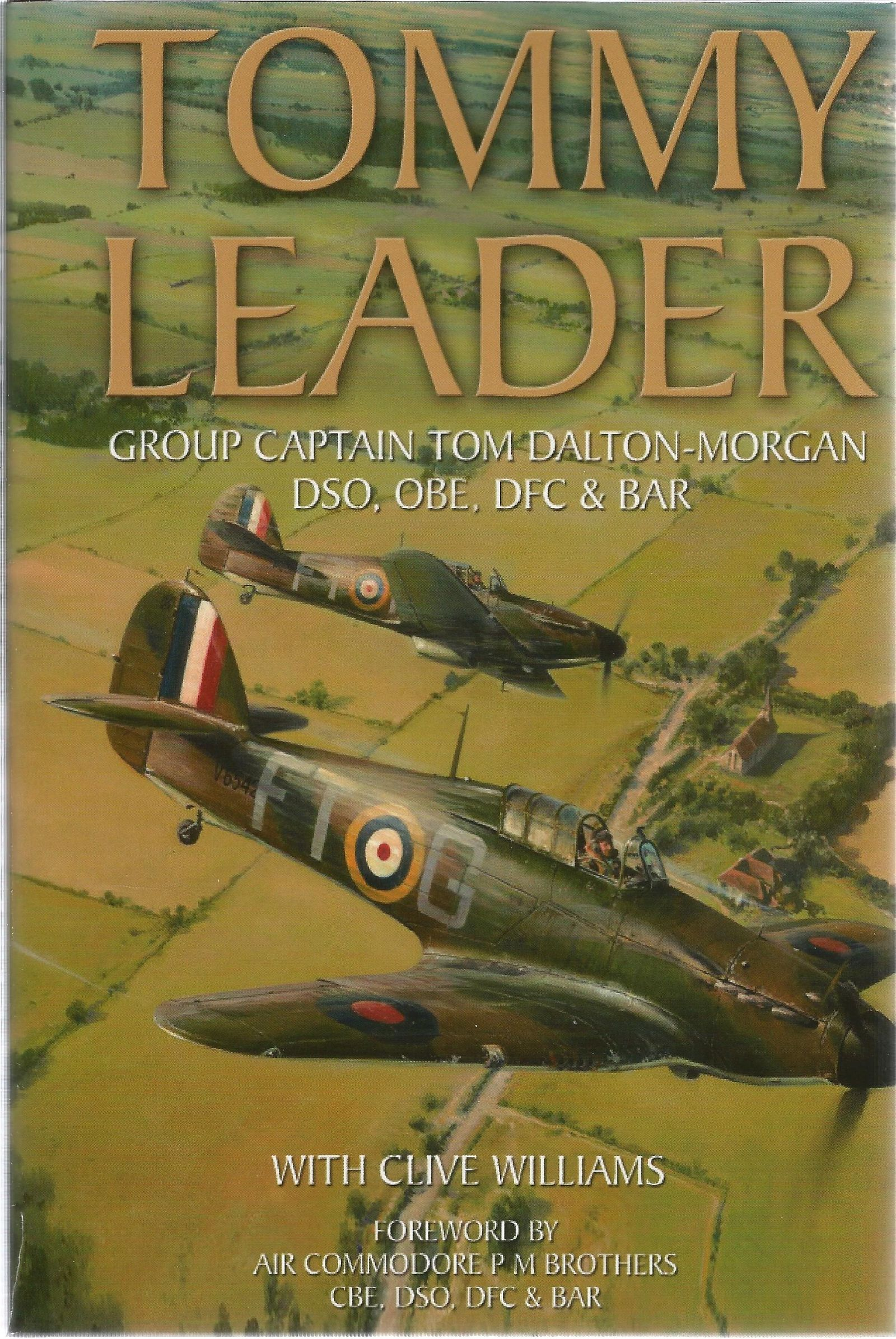 WW2 BOB Multiple signed book Tommy Leader With Clive