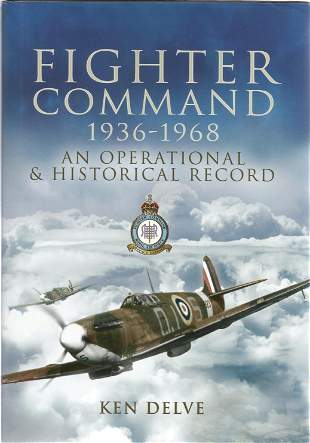 WW2 multi signed book Ken Delve Fighter Command