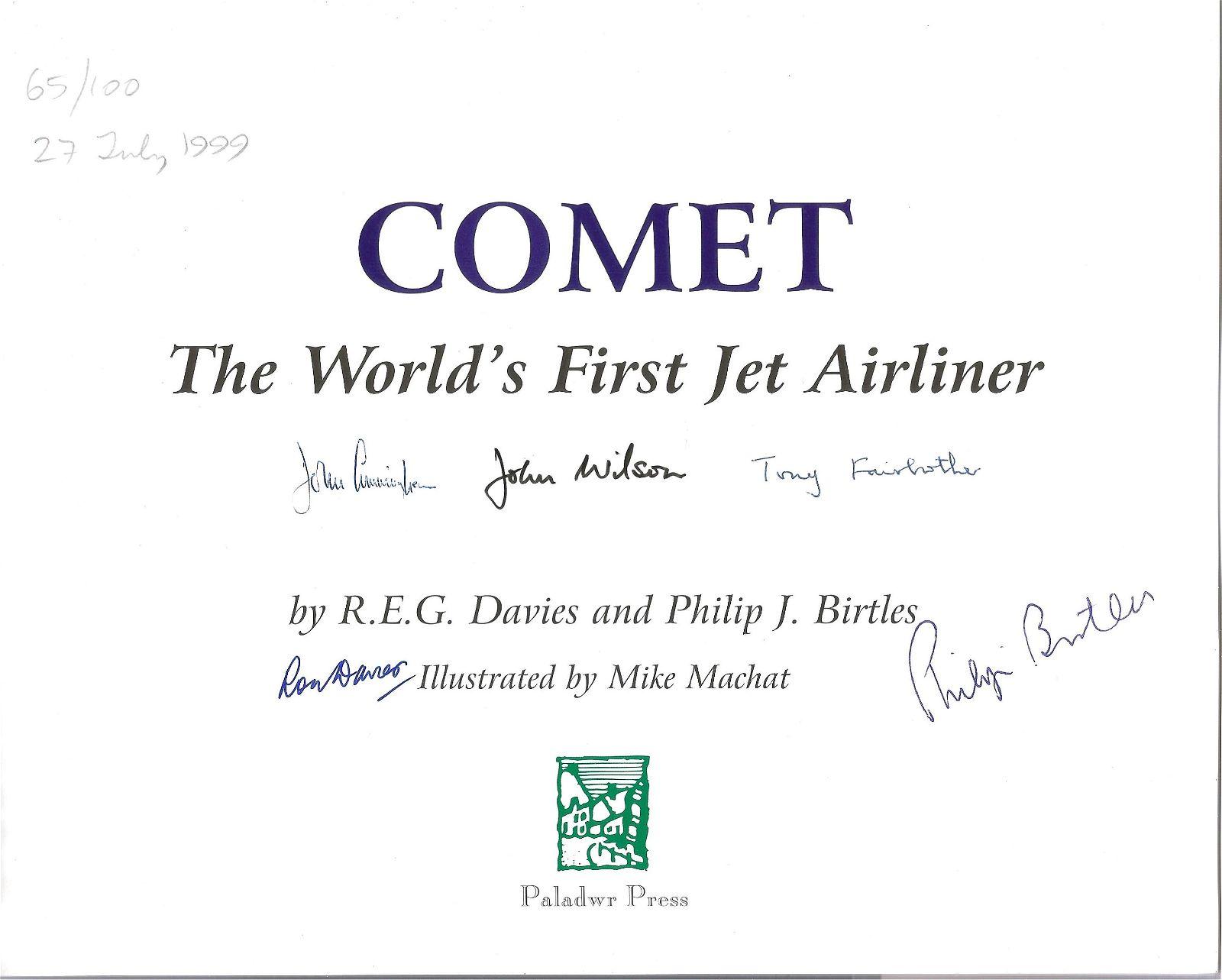 WW2 ace John Cunningham multi signed book Comet The