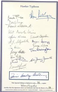 WW2 Multiple signed book Graham A. Thomas. Firestorm.