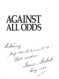 WW2 Flt Lt Mervyn Charles Shipard signed book Against