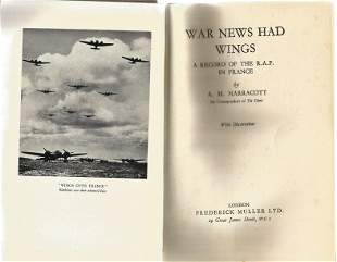 A H Narracott. War News Had Wings. A First Edition