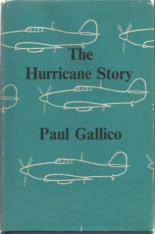 Paul Gallico. The Hurricane Story. A WW2 hardback,