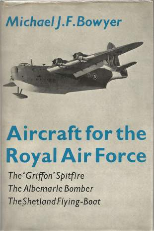 Michael J F Bowyer. Aircraft for the Royal Air Force. -