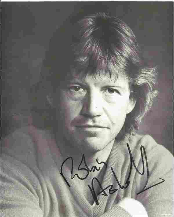 Robin Askwith signed 10x8 black and white photo. Robin