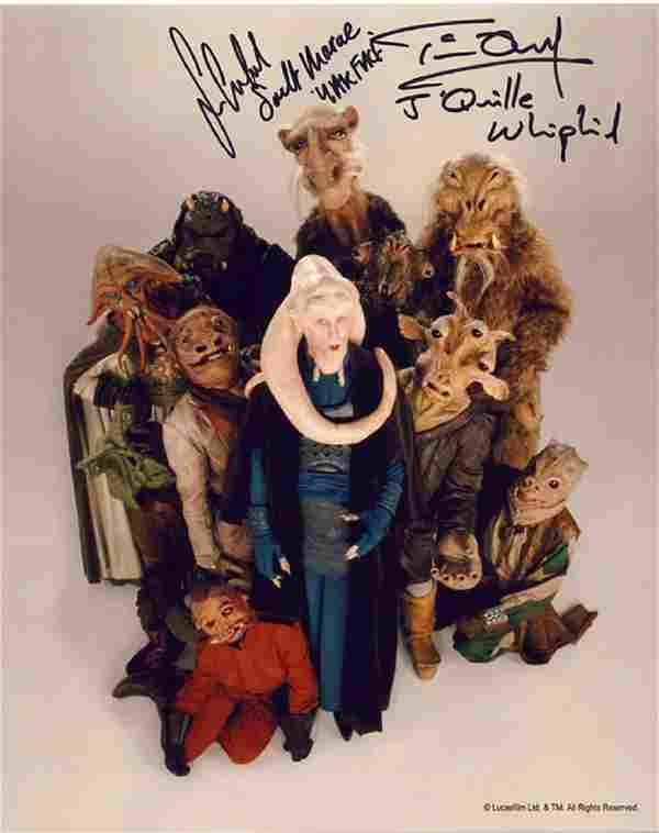 Blowout Sale! Lot of 10 Star Wars hand signed 10x8