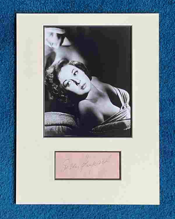 Susan Hayward 16x12 mounted signature piece includes