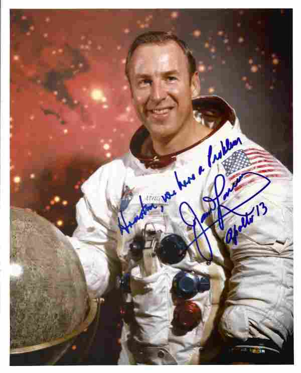 Apollo 13 Astronaut James Lovell signed rare 10 x 8