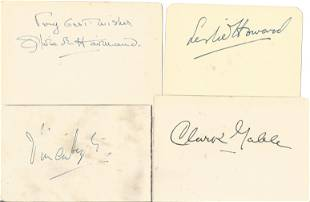 Gone with the Wind collection 4,6x4 album pages signed