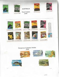 Australian mint & used Stamps in a Binder the pages