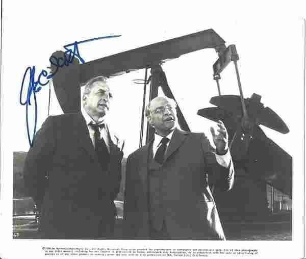 George C Scott signed 10x8 black and white photo.