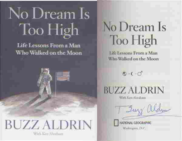 Apollo 11 - Buzz Aldrin signed hardback copy of