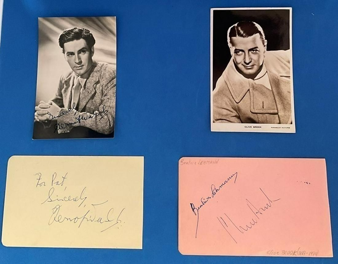 Actors collection. 4 original signed album pages all