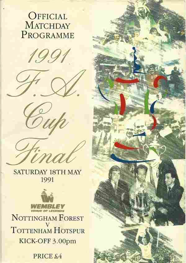 Football. FA Cup Final Programme Notts Forest Vs Spurs.