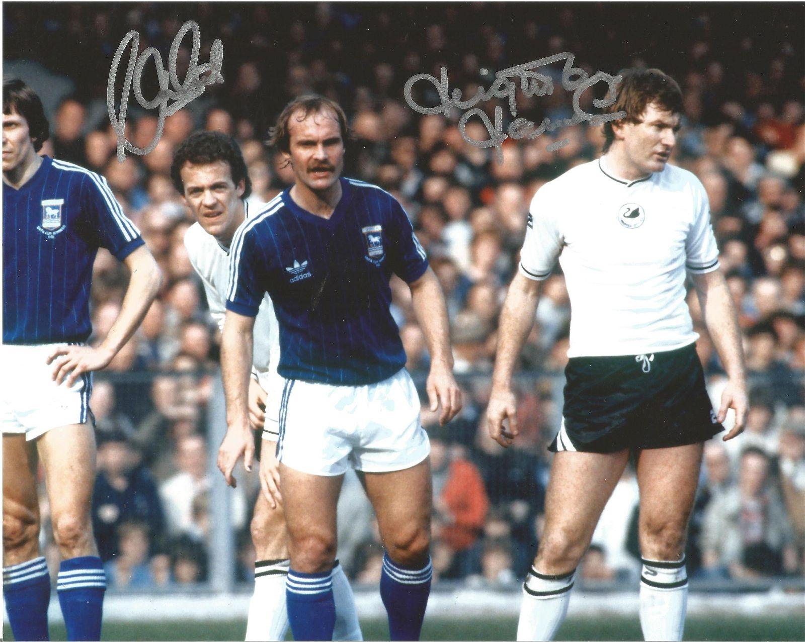 Football Alan Curtis and Leighton James signed 10x8