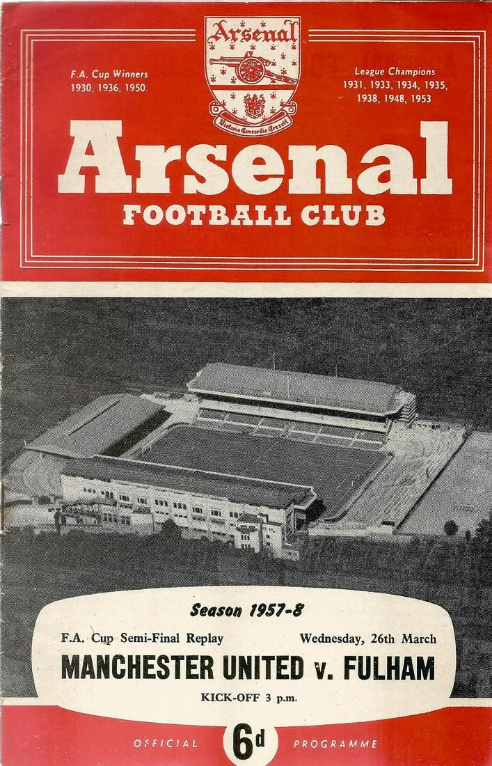Vintage football programme. FA Cup Semi Final Replay