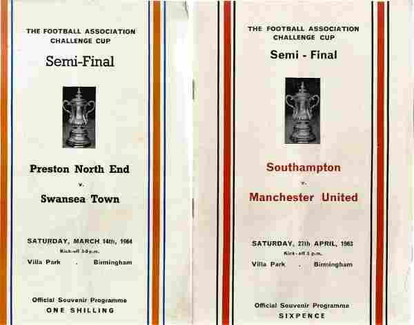 FA Cup football programmes 2 x FA Cup Semi Finals