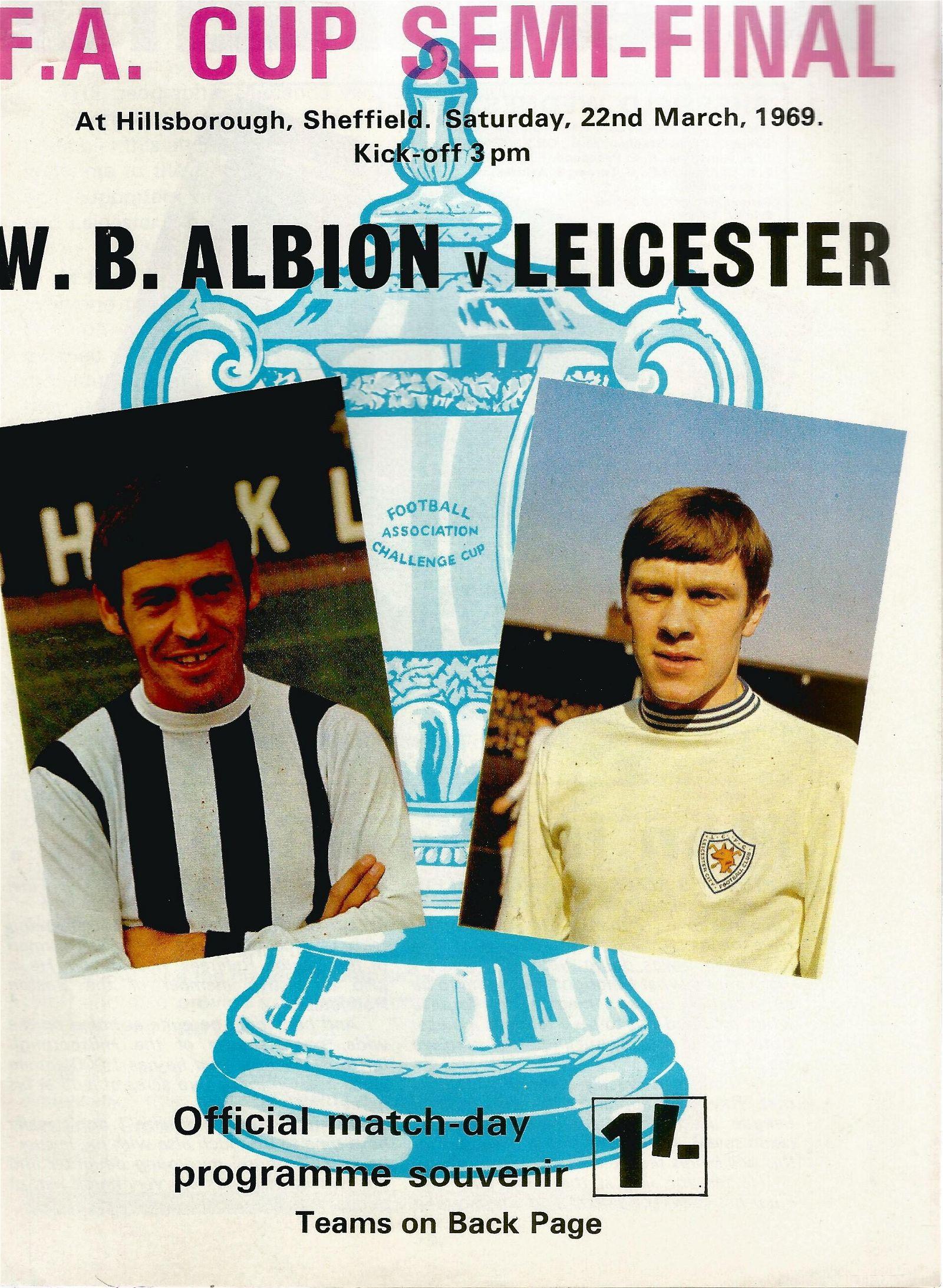 FA Cup football programmes F 25 FA Cup 1969 1 x Final