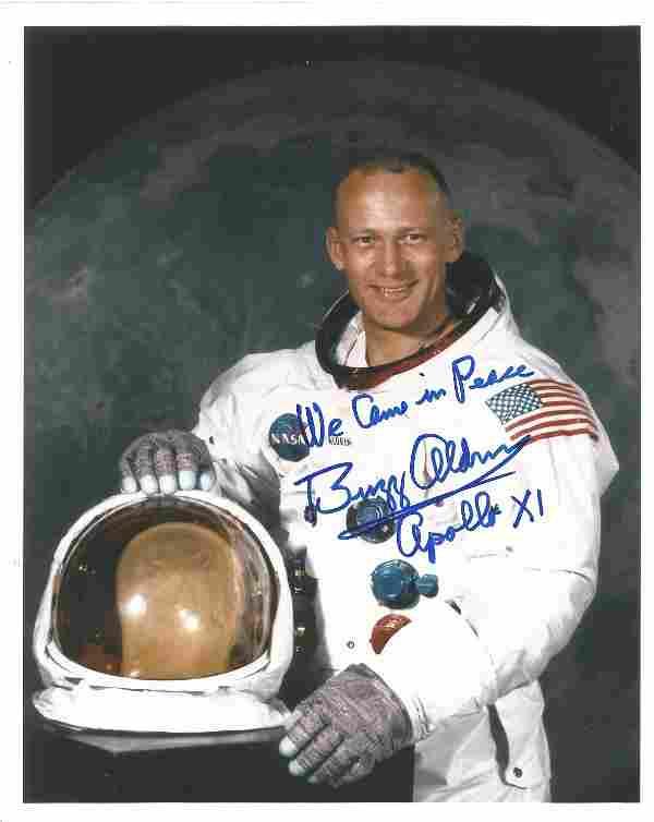 Buzz Aldrin Apollo 11 astronaut signed 10 x 8 inch