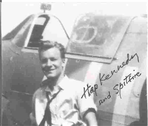 Hap Kennedy DFC WW2 ace signed 5x4 inch b/w photo