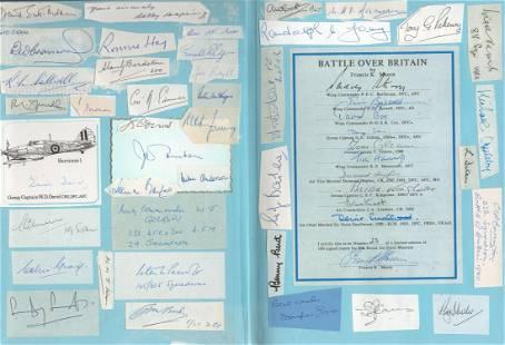 Battle Over Britain book signed by 350 RAF WW2 BOB
