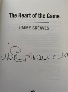 Jimmy Greaves hardback book signed to title page by the