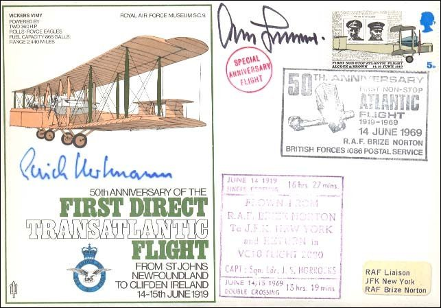 6: Erich Harrtman and Adolf Galland signed cover