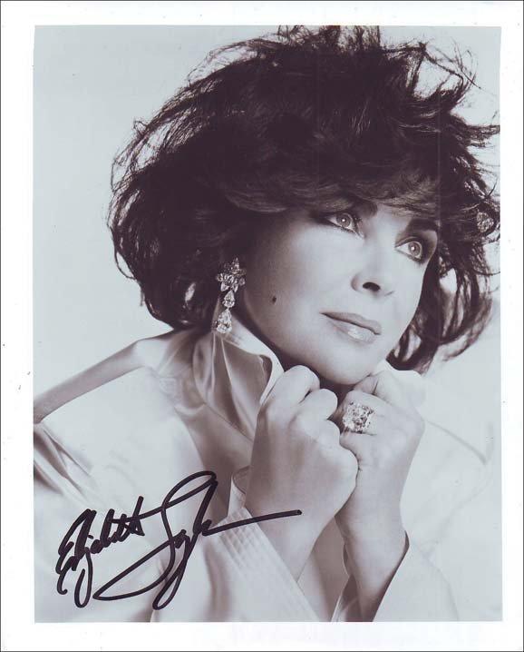 7: Elizabeth Taylor autographed photograph