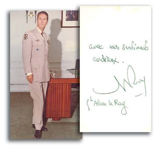 8: General Alain le Ray autographed photograph