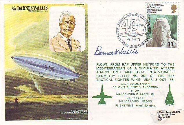 11: Sir Barnes Wallis signed RAF cover