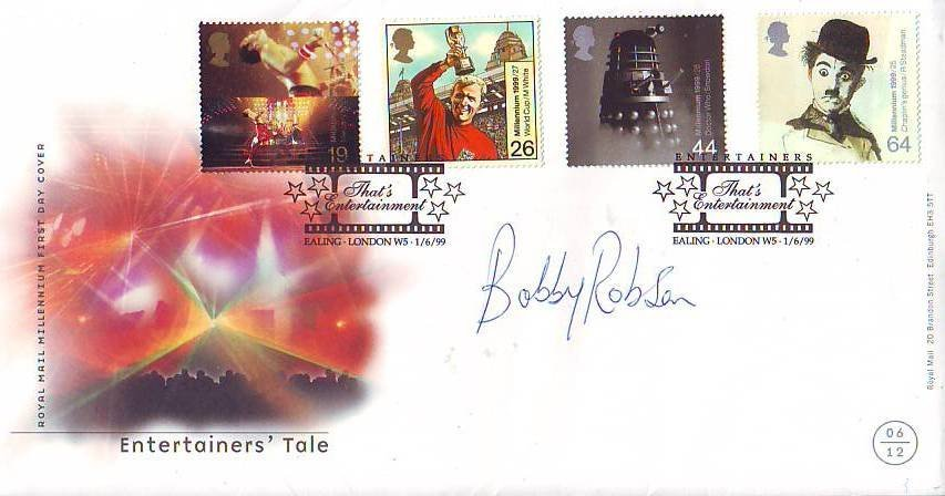 12: Sir Bobby Robson signed cover