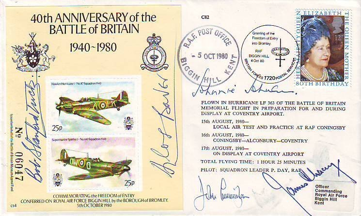 13: Five Aces Battle of Britain signed cover