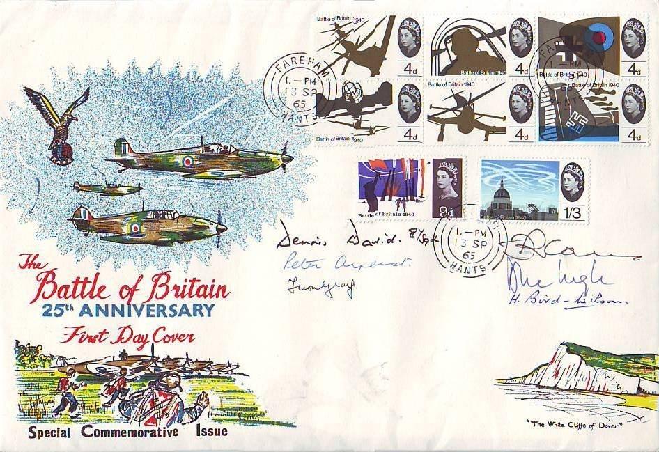 14: Multi-signed Battle of Britain Veterans Cover
