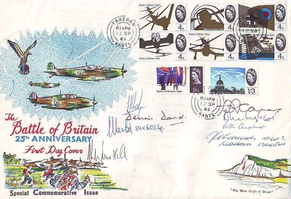 15: Multi-signed Battle of Britain Veterans Cover