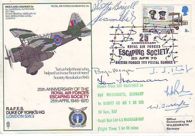 16: Seven WWII Escapers signed cover