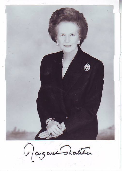 17: Margaret Thatcher Prime Minister autographed photog