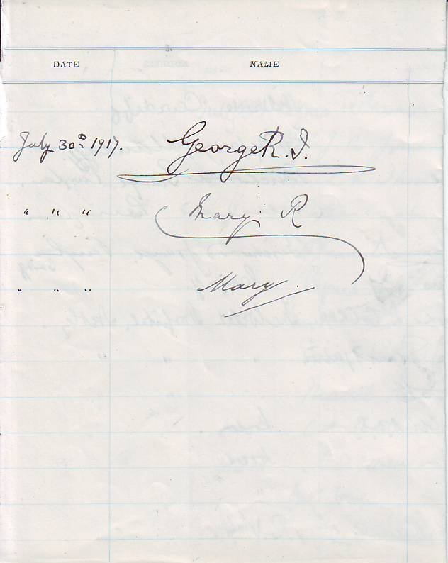 21: King George V rare signed document