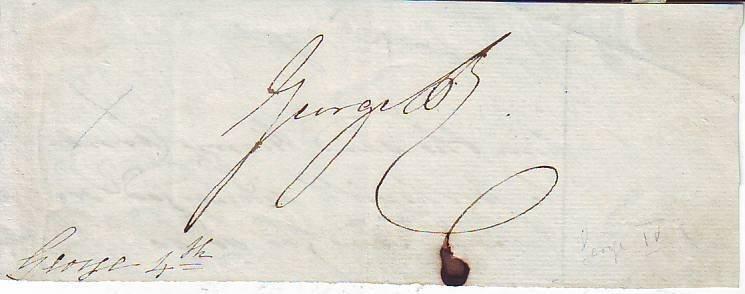 22: King George IV signature