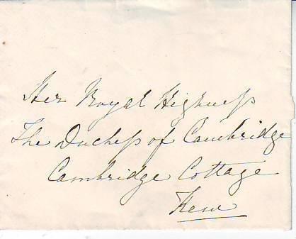 24: Beatrice Daughter of Queen Victoria addressed item