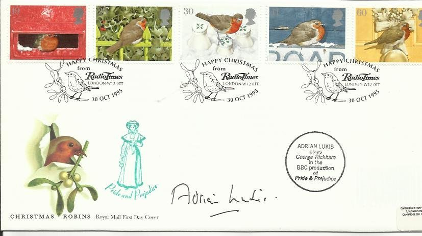 174: Adrian Lukis autographed first day cover