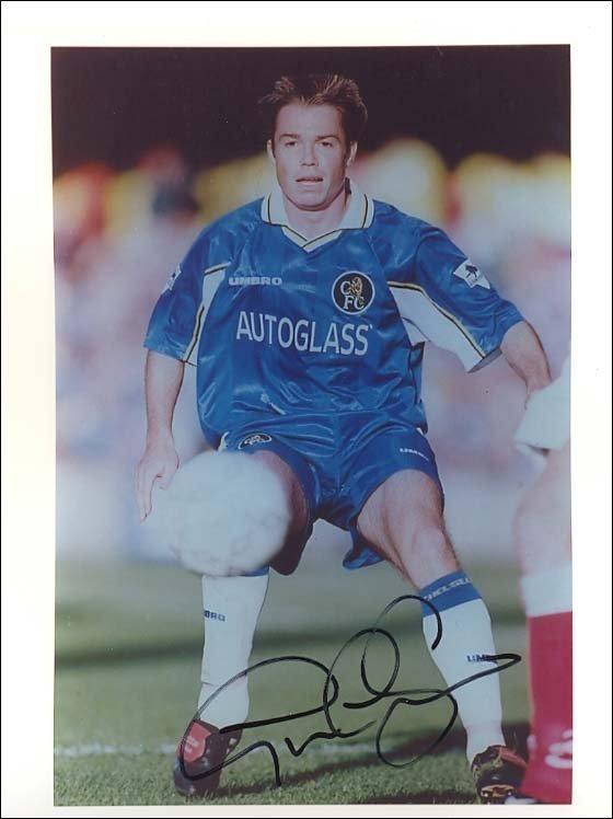 353: Graham Le Saux autographed high quality football p