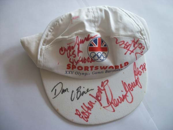 Barcelona Olympics Cap Signed By Five