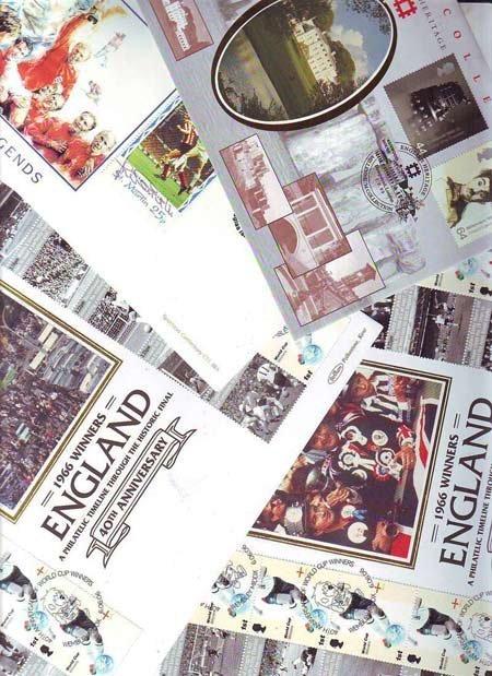 Football  collection four FDCs, 2 x Benham 40th ann.