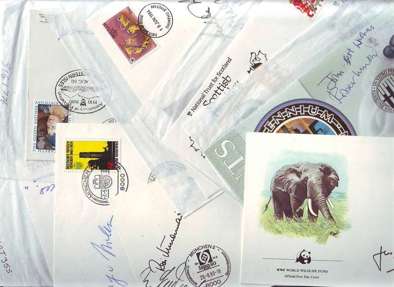 Signed cover collection of 12 covers & FDCs signed, inc