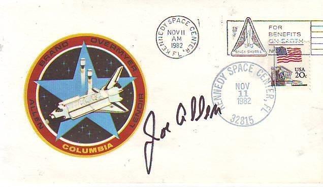 Joe Allen NASA Astronaut STS-5, STS-51-A signed 1982