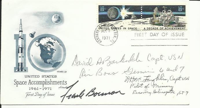 Frank Borman, Capt Banksdale, CO USN Air Base Gemini 6