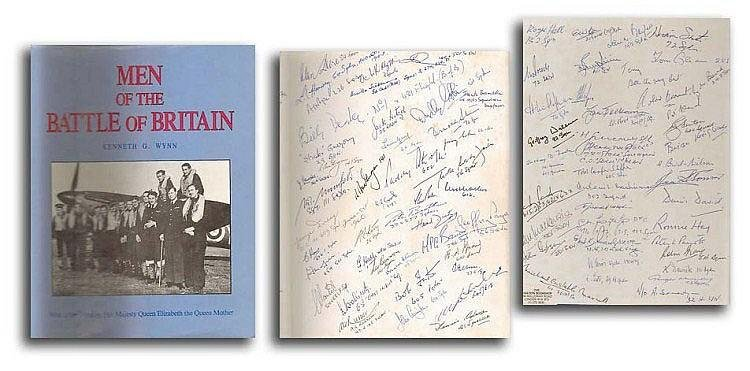 Men of the Battle of Britain Book Signed 250 WW2 Pilots